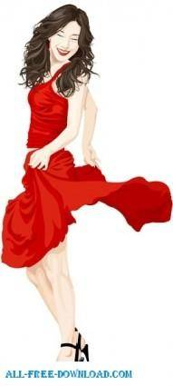 Free fashion vector 485