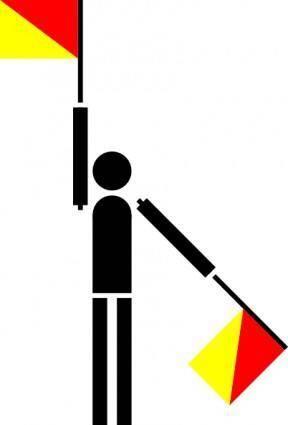 free vector Naval Semaphore Flag V clip art