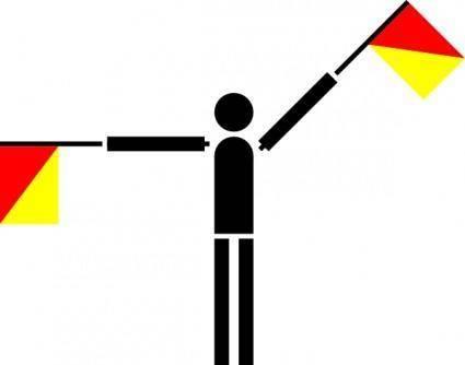free vector Naval Semaphore Flag Q clip art