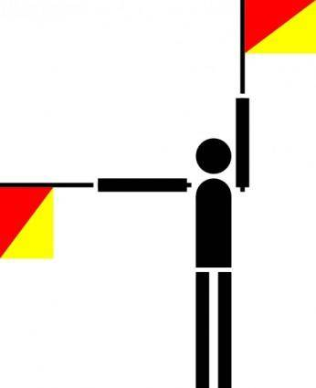 Naval Semaphore Flag P clip art