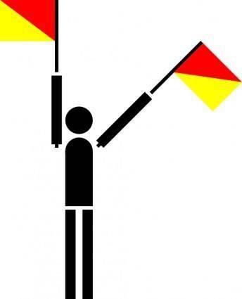 free vector Naval Semaphore Flag Numerical clip art