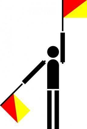 free vector Naval Semaphore Flag K clip art