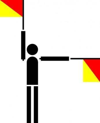 Naval Semaphore Flag J clip art