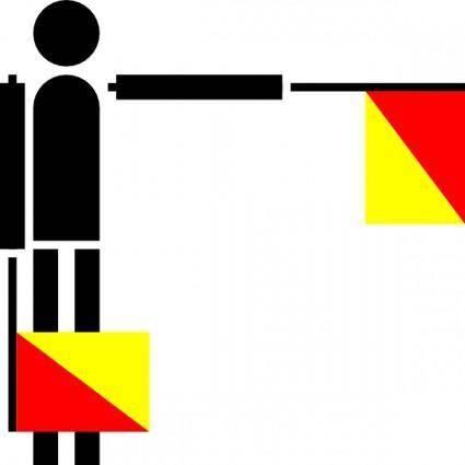 Naval Semaphore Flag F clip art