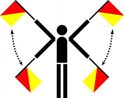 free vector Naval Semaphore Flag Error clip art