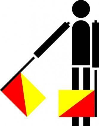 Naval Semaphore Flag A clip art