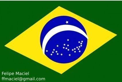 Flag Brazil Crystal clip art