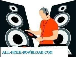 free vector Music DJ Graphic Vector