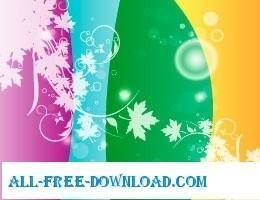 free vector Four colos design