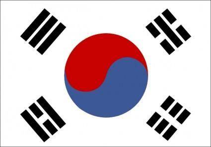 free vector South Korea clip art