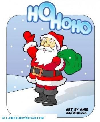 free vector Santa Claus vector