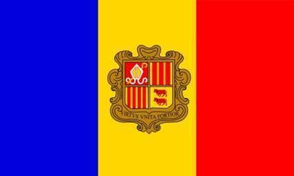Andorre Flag clip art