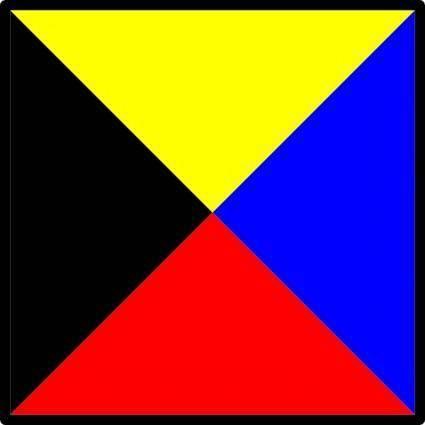 free vector International Maritime Signal Flag Zulu clip art