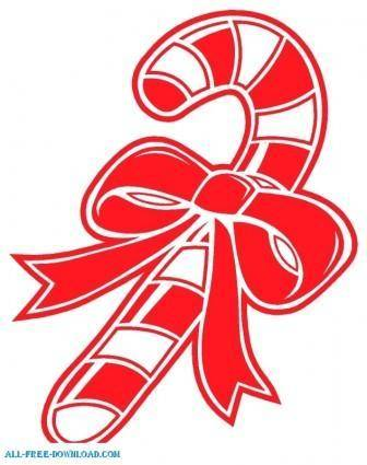 free vector Candy Cane 001