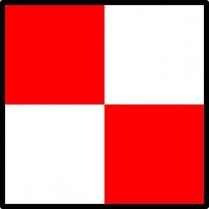 International Maritime Signal Flag Uniform clip art