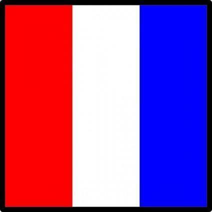 free vector International Maritime Signal Flag Tango clip art