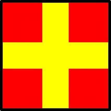 free vector International Maritime Signal Flag Romeo clip art