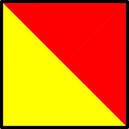 International Maritime Signal Flag Oscar clip art