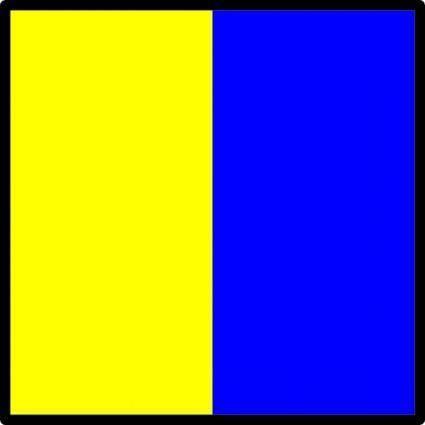 International Maritime Signal Flag Kilo clip art