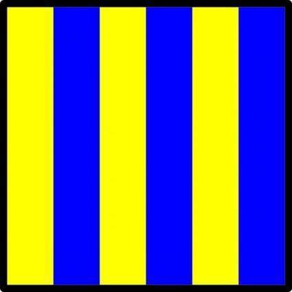 free vector International Maritime Signal Flag Golf clip art