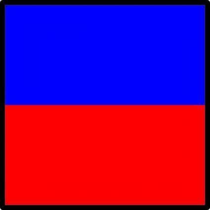 free vector International Maritime Signal Flag Echo clip art