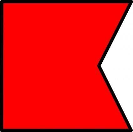 free vector International Maritime Signal Flag Bravo clip art