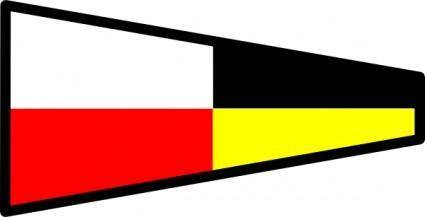 free vector International Maritime Signal Flag 9 clip art