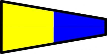 International Maritime Signal Flag 5 clip art