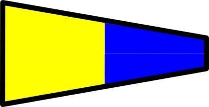 free vector International Maritime Signal Flag 5 clip art
