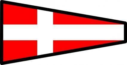 International Maritime Signal Flag 4 clip art