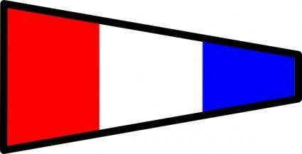International Maritime Signal Flag 3 clip art