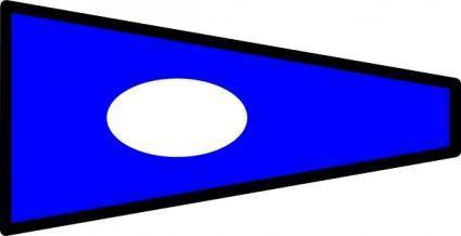 International Maritime Signal Flag 2 clip art