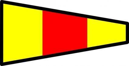 International Maritime Signal Flag 0 clip art