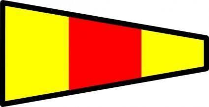 free vector International Maritime Signal Flag 0 clip art