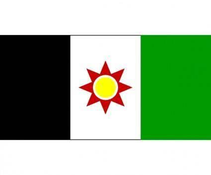free vector Iraqi Flag 1959-1963 (post-royalist Pre-ba`thist) clip art