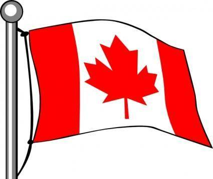 Canada Flag Flying clip art