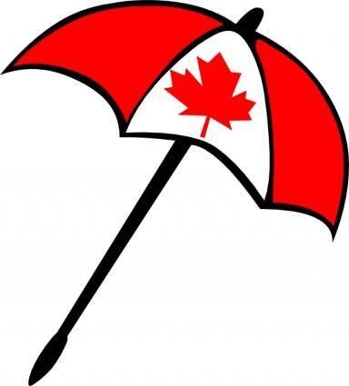 free vector Canada Flag Umbrella clip art