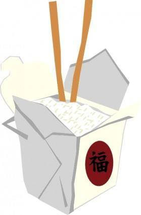 Chinese Take Out Box clip art