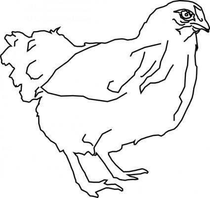 Outline Chicken clip art