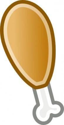 free vector Chicken Leg clip art