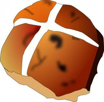 Hot Cross Bun clip art