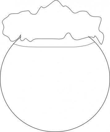 Pongal Pot Line clip art