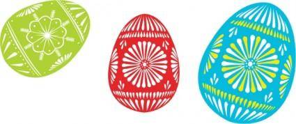Colour Easter Eggs clip art