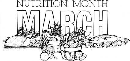 free vector National Nutrition Month March clip art