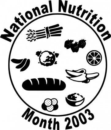free vector National Nutriion Month clip art