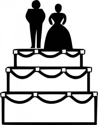 free vector Wedding Cake clip art
