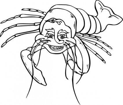 Lauging Lobster clip art