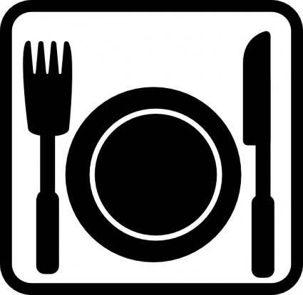 Geant Pictogram Restaurant clip art