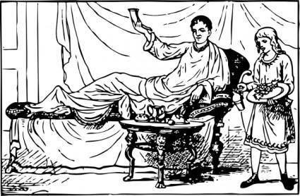 Roman Dining clip art