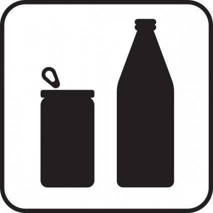 Cans Or Bottles White clip art